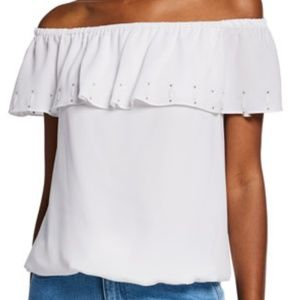 White Michael Kors off shoulder blouse size medium